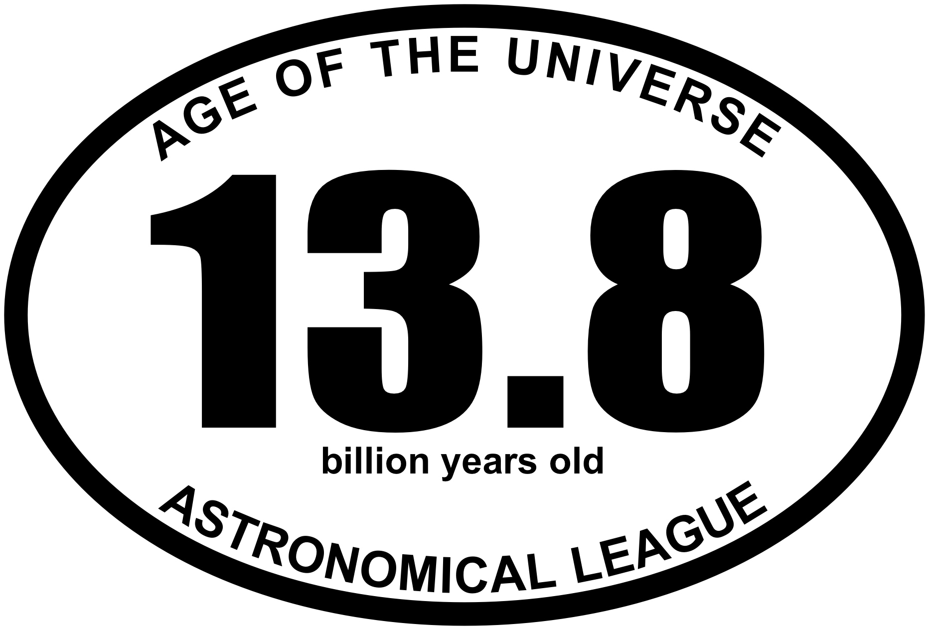 13.8 BY Age of the Universe Oval