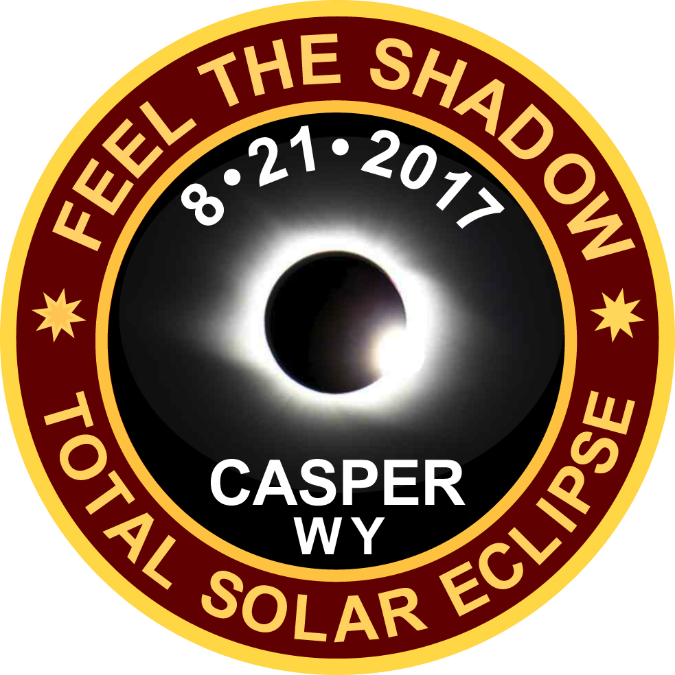 2017 Eclipse Commemorative Casper, WY Lapel Pin