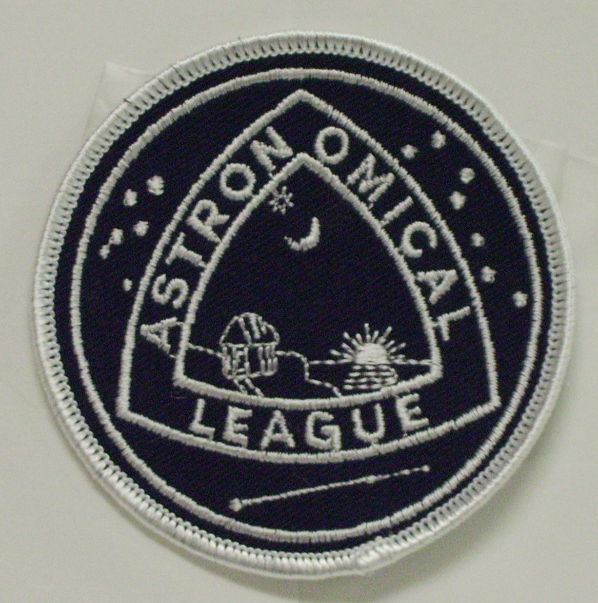 Astronomical League Cloth Patch - blue & white
