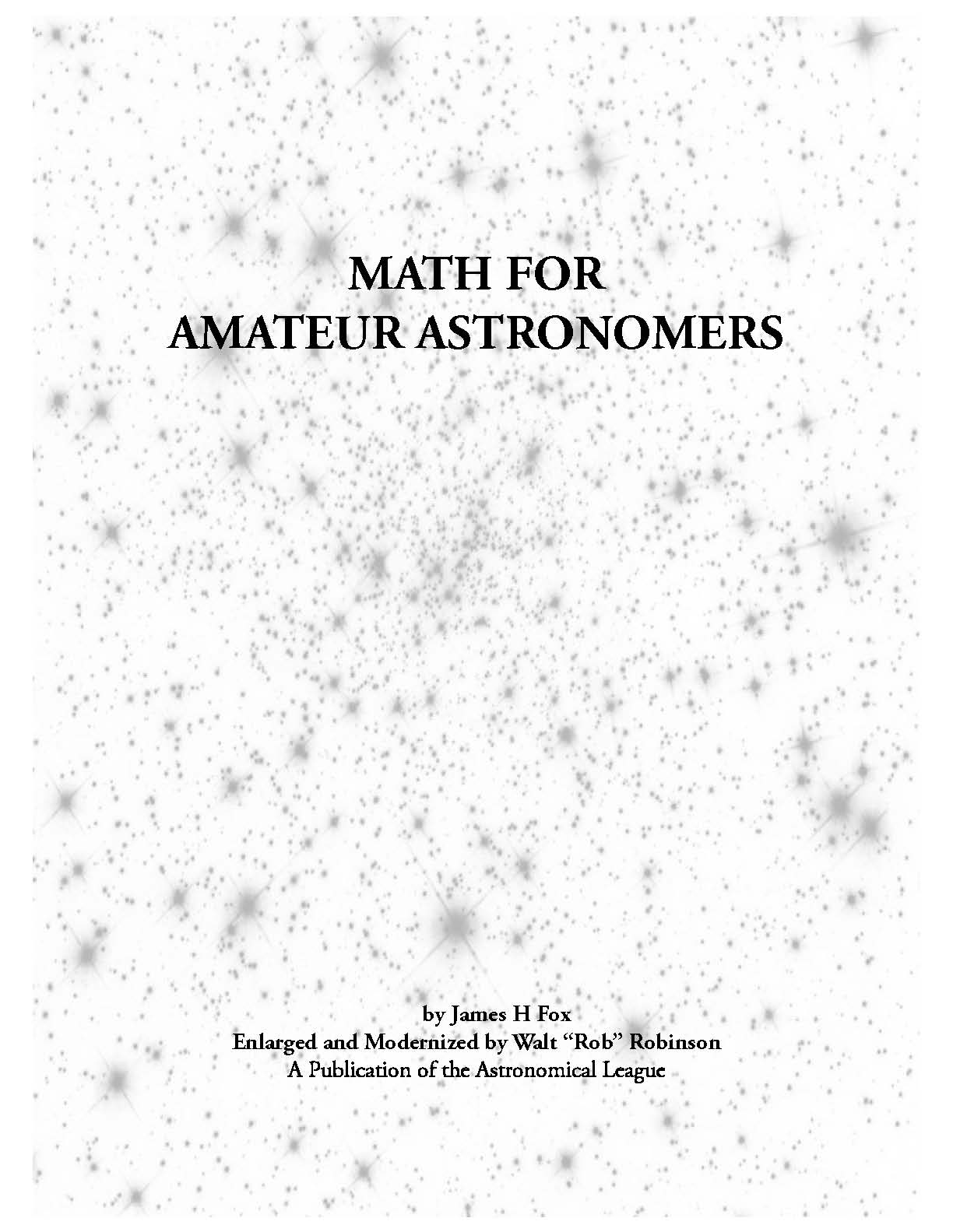 Math for Amateur Astronomers