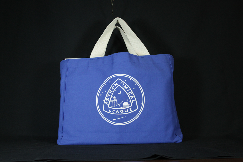 AL Canvas Tote - open, Royal