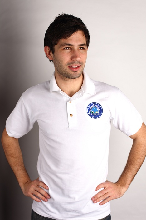 Astronomical League Polo Shirt - White, embroidered color logo